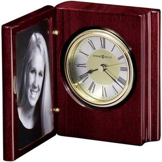Howard Miller Portrait Book Table Clock 645-497 - Folding & Brass Toned with Quartz Movement