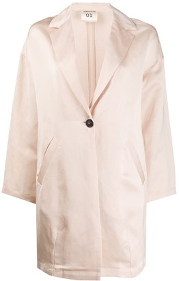 Semi-Couture Oversized Single-Breasted Blazer