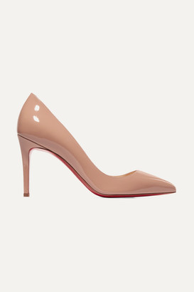 Christian Louboutin Pigalle Follies 85 Patent-leather Pumps - Beige