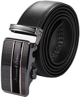 K&S KS Men's Luxury Genuine Leather Belt Sliding Automatic Lock Alloy Buckle KB065
