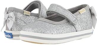 Keds x kate spade new york Kids Sloan MJ Crib (Infant/Toddler) (Silver) Girl's Shoes
