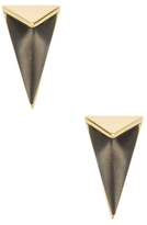Alexis Bittar Lucite Faceted Pyramid Post Stud Earrings