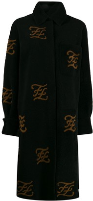 Fendi FF motif shearling coat