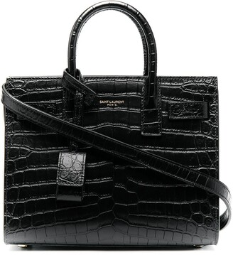 Saint Laurent nano Sac De Jour crocodile-effect tote bag