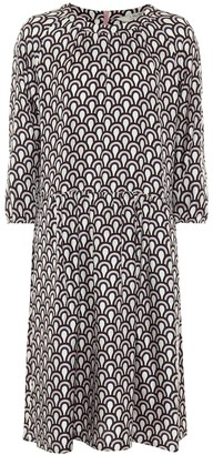 S Max Mara Minorca printed silk midi dress