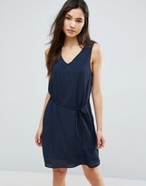Vila Belted Drawstring Dress