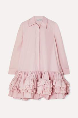 Molly Goddard Annie Ruffled Tiered Cotton-poplin Mini Dress - Pink