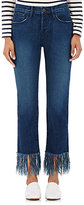 3x1 Women's WM3 Crop Fringe Straight Jeans