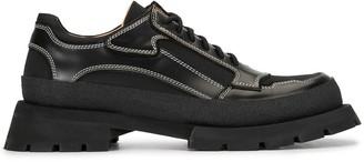 Jil Sander Leather Derby Lace Up Shoes