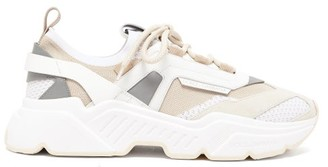Dolce & Gabbana Daymaster Leather, Suede And Mesh Trainers - White