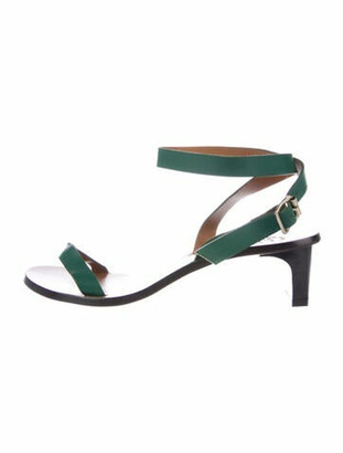 ATP ATELIER Leather Sandals Green