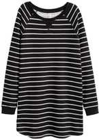 H&M Sweatshirt Dress - Khaki green - Ladies