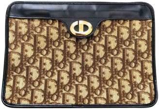 Christian Dior Beige Cloth Clutch bags