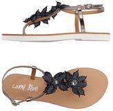 Coral Blue Toe post sandal