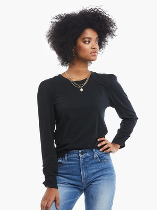 ABLE Agnes Ruched Sleeve Tee