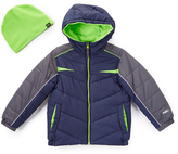 Hawke & Co Atlantic & Green Bubble Coat & Beanie - Boys