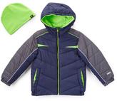 Hawke & Co Atlantic & Green Bubble Coat & Beanie - Toddler & Boys