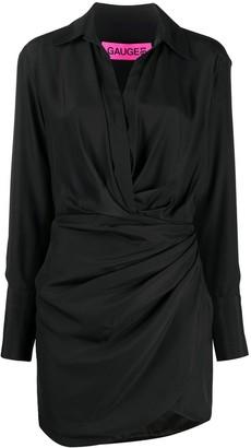 GAUGE81 Silk Wrap Mini Dress