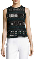 M Missoni Dotted Ripple-Stitch Tank Top