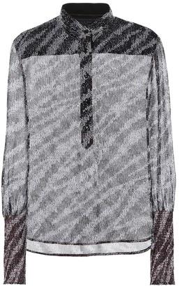 Rag & Bone Maris zebra-print blouse