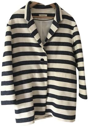 Sessun White Cotton Coat for Women