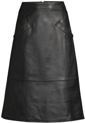 Kobi Halperin Emmy Leather A-Line Skirt