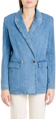 Pinko Double Breasted Denim Blazer