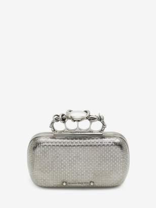 Alexander McQueen Woven Four-Ring Box Clutch