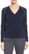 Nordstrom Contrast Seam Cashmere Pullover