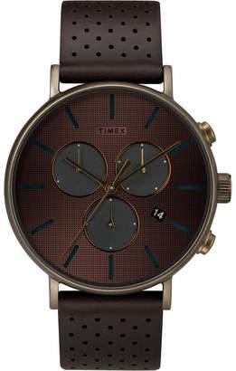 Timex Fairfield Chronograph Supernova 41mm Leather Strap Watch