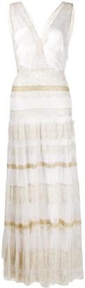 Alberta Ferretti Sleeveless Floor-Length Gown