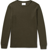 Albam - Slim-fit Waffle-knit Cotton T-shirt - Army green