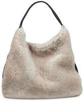 Brunswick And Co Roxborough Shearling Leather Hobo Bag