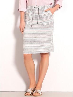 M&Co Stripe linen skirt