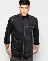 Cheap Monday Denim Shirt Bolt Washed Black - Black