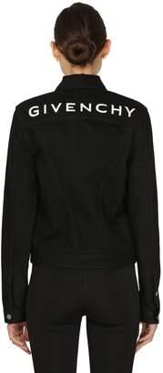 Givenchy Cotton Denim Jacket W/ Back Logo