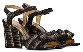 Salvatore Ferragamo Women's Printed Suede Strappy High Heel Sandals