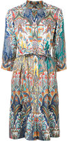 Oscar de la Renta floral print dress - women - Silk - 4