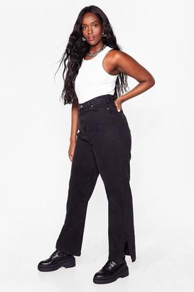 Nasty Gal Womens We Split Up Plus Straight-Leg Organic Jeans - Black - 20