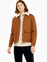 Topman Michigan Borg Collar Jacket - Tan