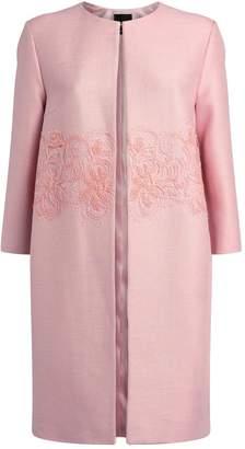 Giorgio Grati Lace-Embroidered Coat