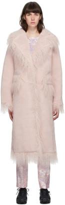 Saks Potts Pink Shearling Jimy Coat