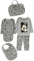 Little Eleven Paris Mikash Mickey Sweatshirt, Jogging Bottoms, Body, Bib and Bag Set