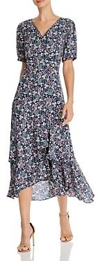 Nanette Lepore Floral Midi Wrap Dress