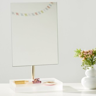 Pottery Barn Teen Ava Frosted Acrylic Beauty Mirror