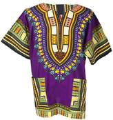 Lofbaz Traditional African Print Unisex Dashiki Ethnic Size S Purple