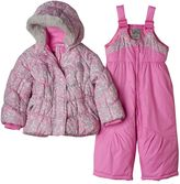 ZeroXposur Baby Girl Heavyweight Animal Print Jacket & Bib Snow Pants Set