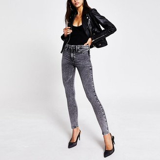 River Island Grey Molly Mid Rise Jeggings