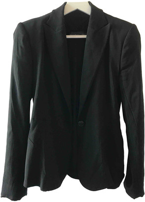 Theyskens' Theory Black Polyester Jackets