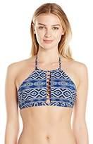 LaBlanca La Blanca Women's Designer Jeans High Neck Bra Bikini Top